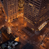 Nighttime intersection – State and Congress- Boston Timelapse